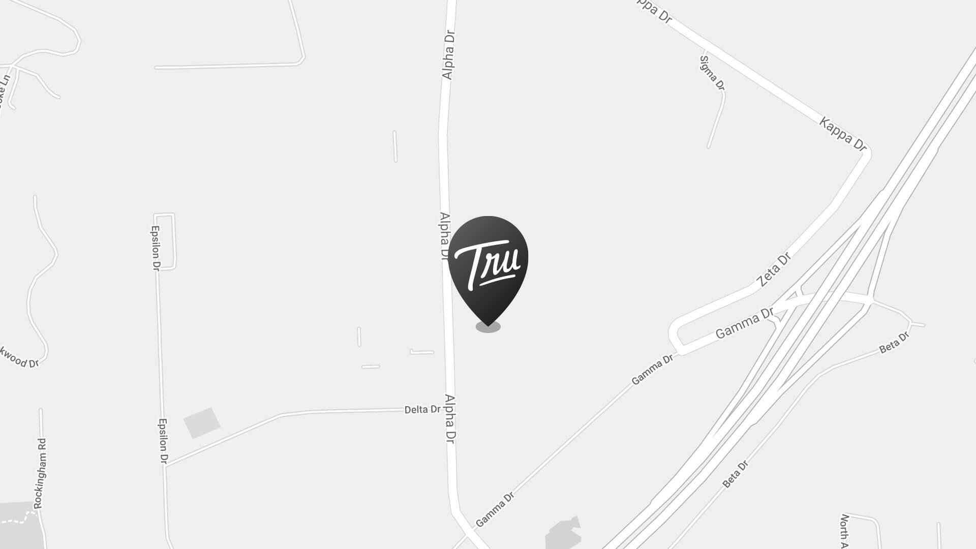 Map with a pin on the Trufood Alpha facility